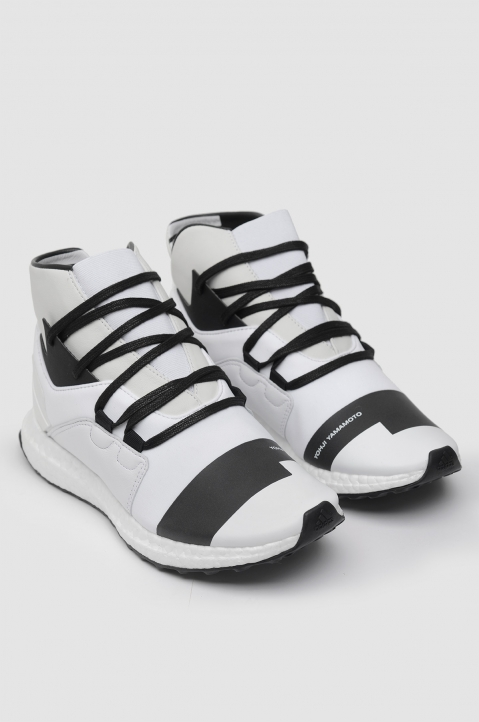 Y-3 Kozoko White High-Top Sneakers Boost 1