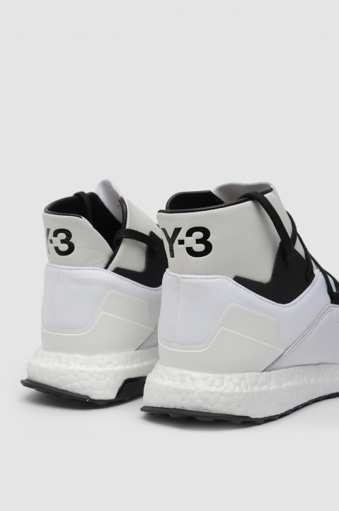 Y-3 Kozoko White High-Top Sneakers Boost 3