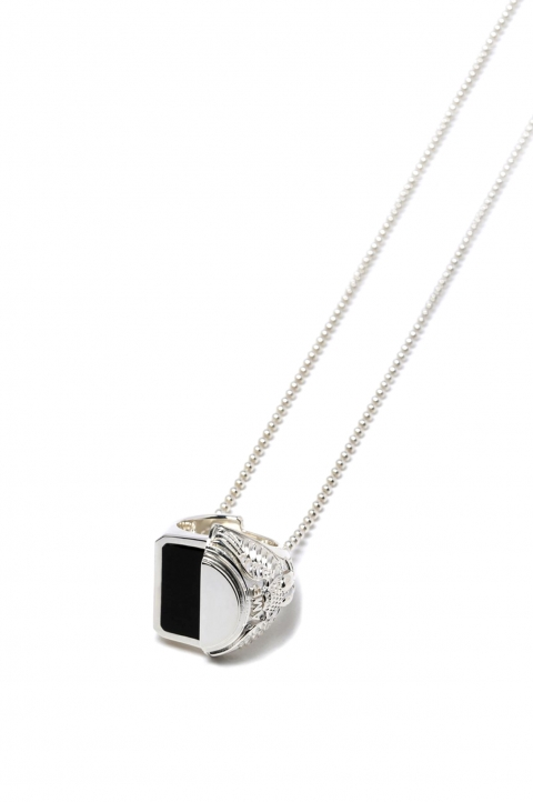 AMBUSH SSS Misfit College Ring Necklace 0