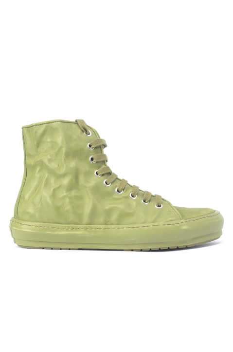 BOTH Green Crinkled High-Top Sneakers 0