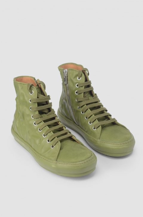 BOTH Green Crinkled High-Top Sneakers 2