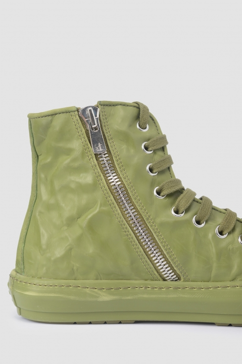 BOTH Green Crinkled High-Top Sneakers 3
