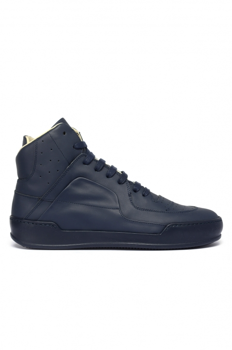 MAISON MARGIELA High-Top Navy Sneakers 0