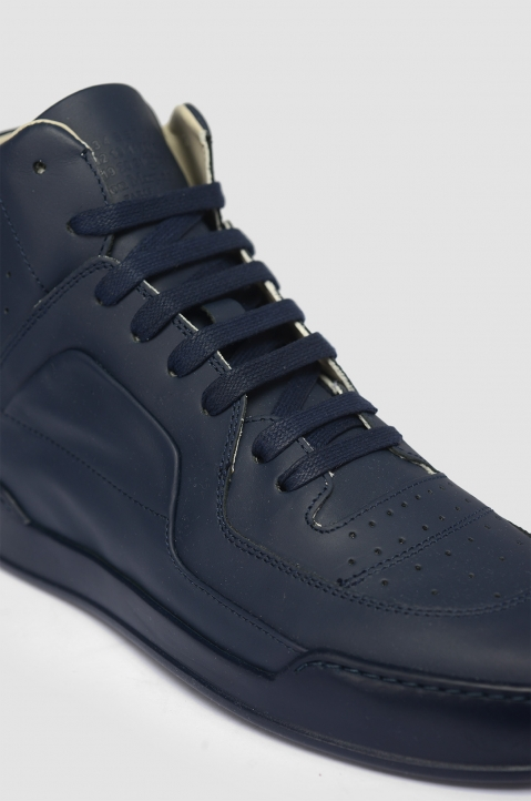 MAISON MARGIELA High-Top Navy Sneakers 1