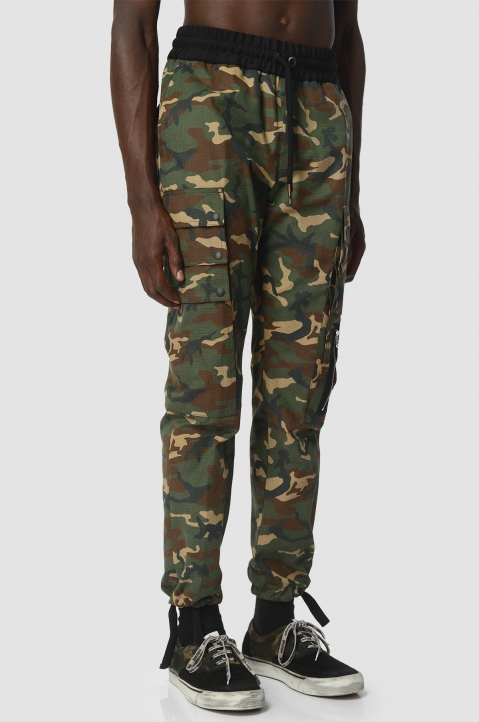PALM ANGELS Camo Trousers  1