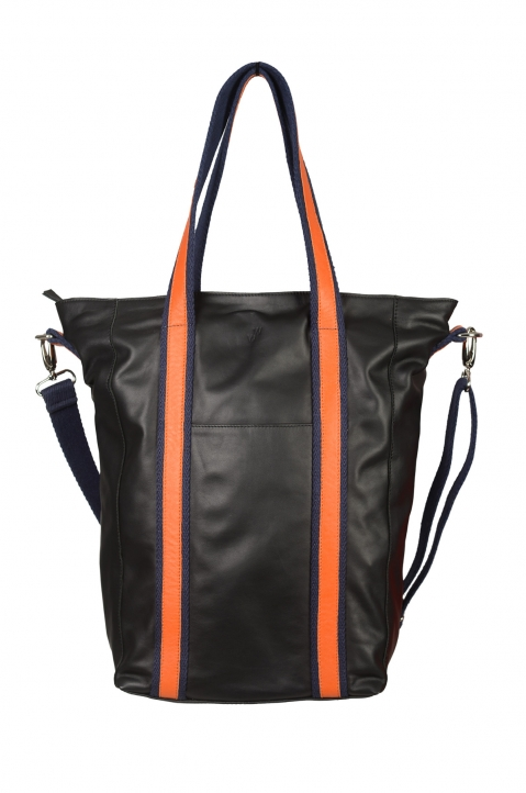 WRONG WEATHER LIFE Black/Orange Shopper Bag 0