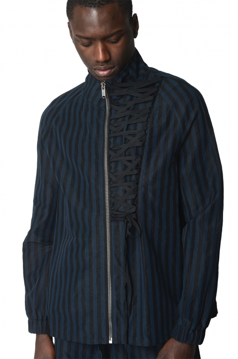 DAMIR DOMA Jokull Striped Shirt-Jacket 0