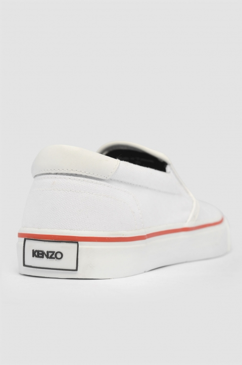 KENZO Logo Slip On White Sneakers 2