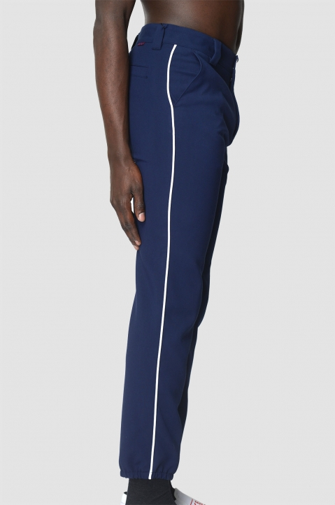 KENZO Side Stripe Navy Trousers 3