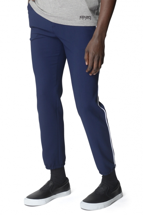 KENZO Side Stripe Navy Trousers 0