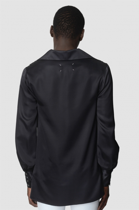 MAISON MARGIELA Black Silk Shirt 2