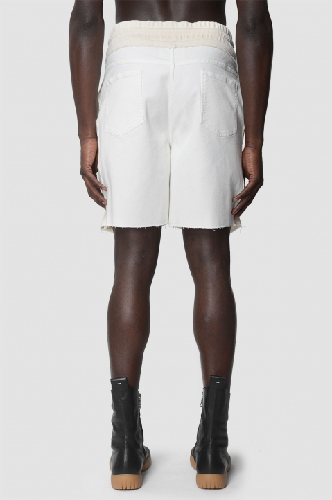 MAISON MARGIELA Descontructed White Shorts 2