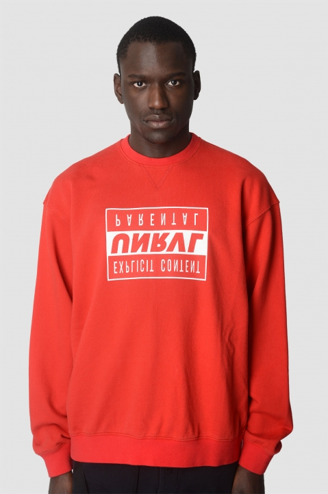 UNRAVEL PROJECT Explicit Red Sweatshirt 1