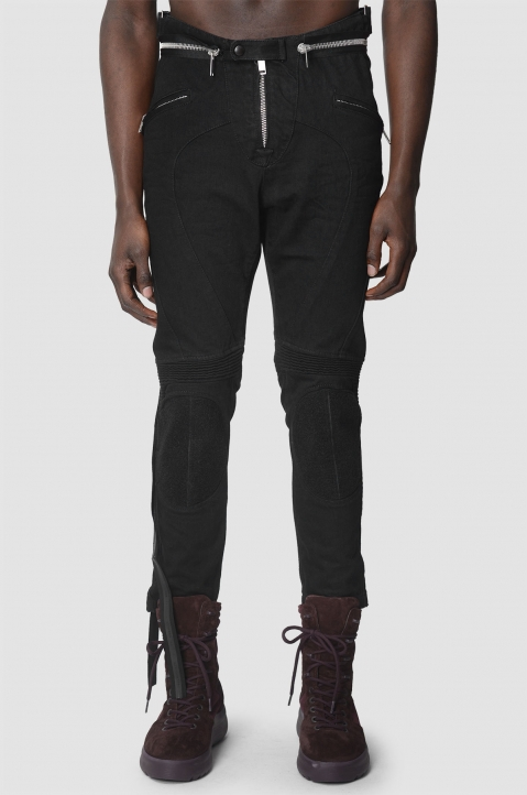 UNRAVEL PROJECT Motorcycle Black Trousers 1