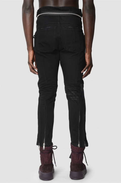UNRAVEL PROJECT Motorcycle Black Trousers 2