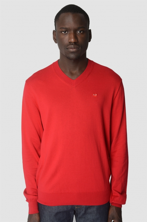 COMME DES GARÇONS PLAY Cotton Red Sweater 1