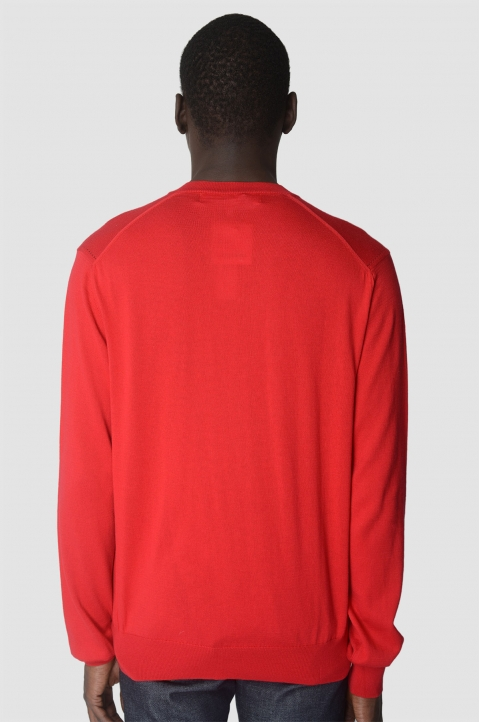 COMME DES GARÇONS PLAY Cotton Red Sweater 2