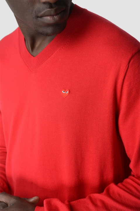 COMME DES GARÇONS PLAY Cotton Red Sweater 3