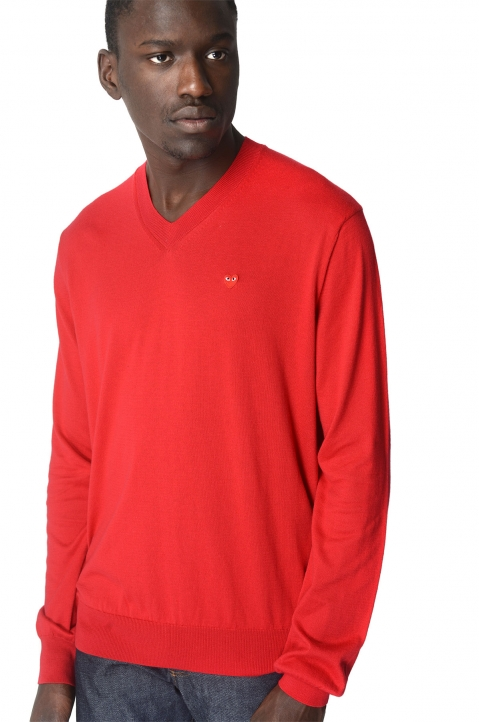COMME DES GARÇONS PLAY Cotton Red Sweater 0