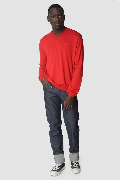 COMME DES GARÇONS PLAY Cotton Red Sweater 4