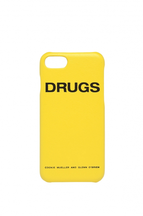 RAF SIMONS Yellow Drugs iPhone Cover 0