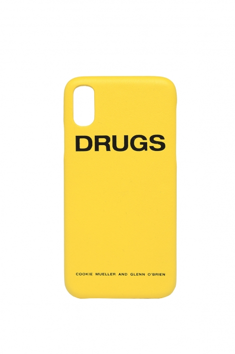 RAF SIMONS Yellow Drugs iPhone Cover 1