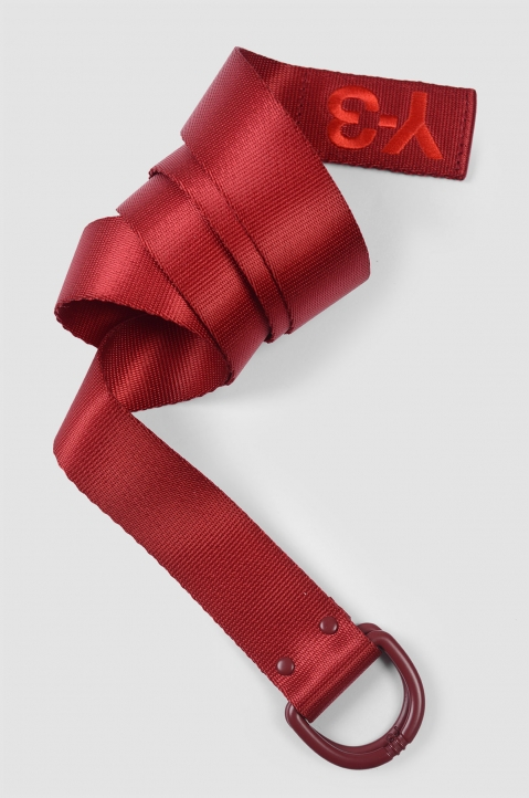 Y-3 Red Logo Belt 1