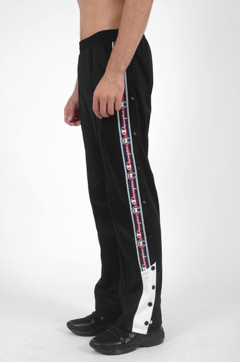 CHAMPION Snap Black Trackpants 2