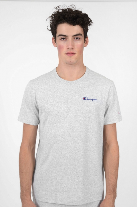 CHAMPION Logo Grey T-Shirt 1