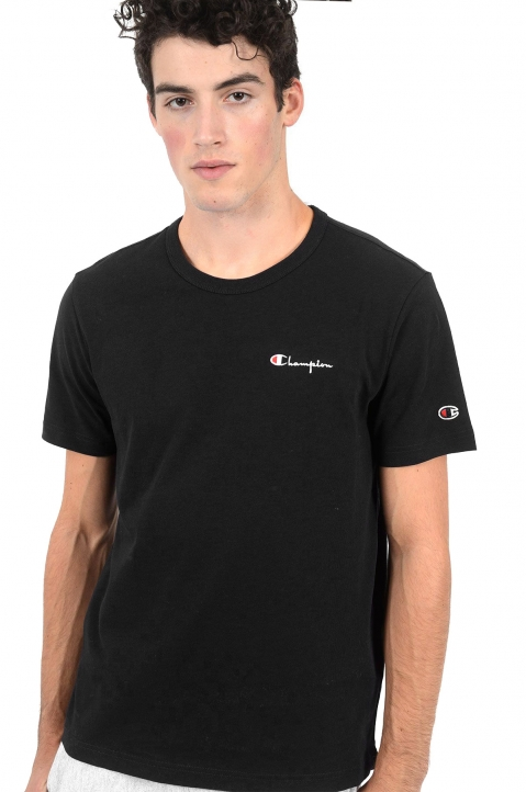 CHAMPION Logo Black T-Shirt 0