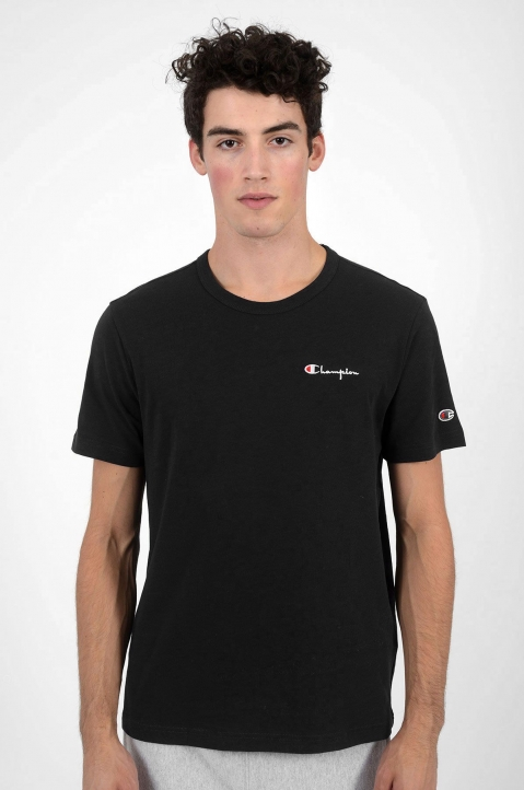 CHAMPION Logo Black T-Shirt 1