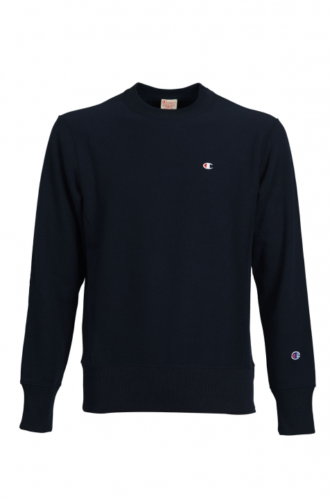 CHAMPION Small Logo Navy Blue Sweatshirt 0