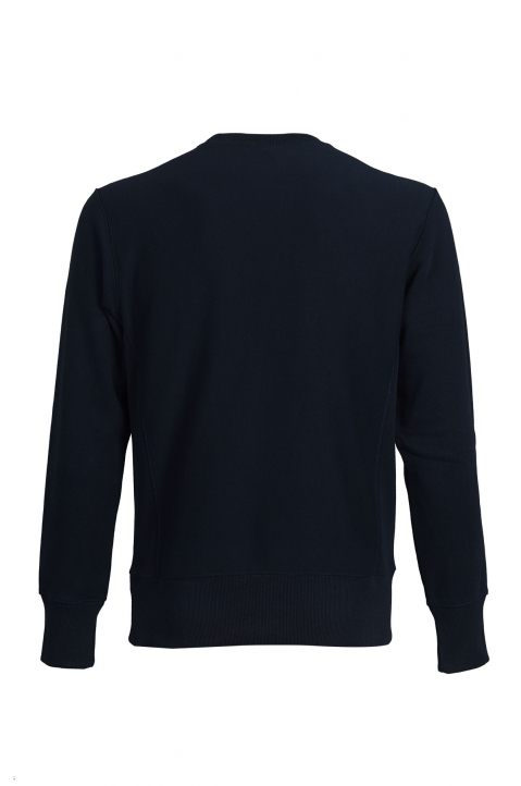 CHAMPION Small Logo Navy Blue Sweatshirt 1