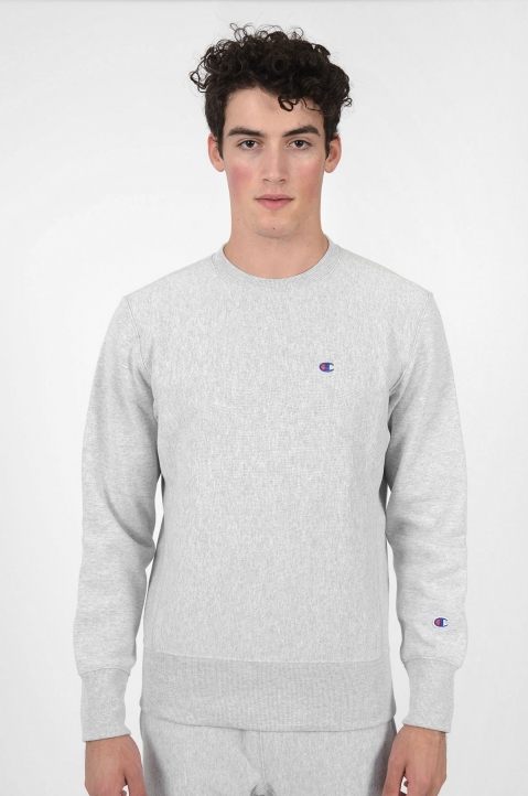 CHAMPION Small Logo Grey Sweatshirt 1