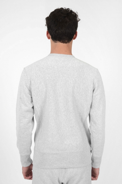 CHAMPION Small Logo Grey Sweatshirt 2