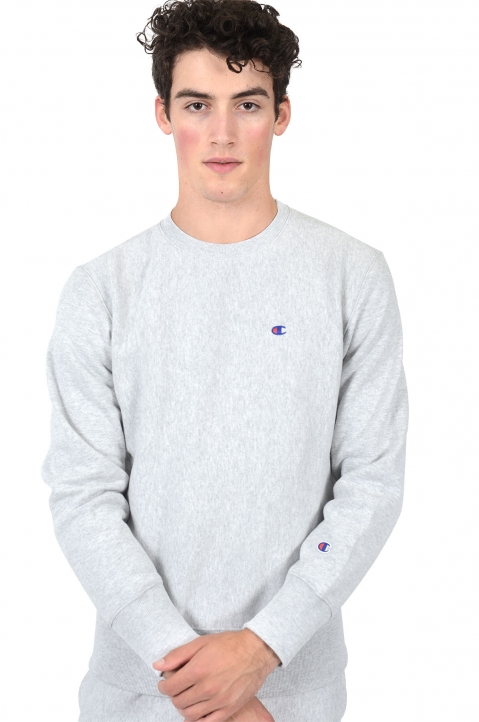 CHAMPION Small Logo Grey Sweatshirt 0