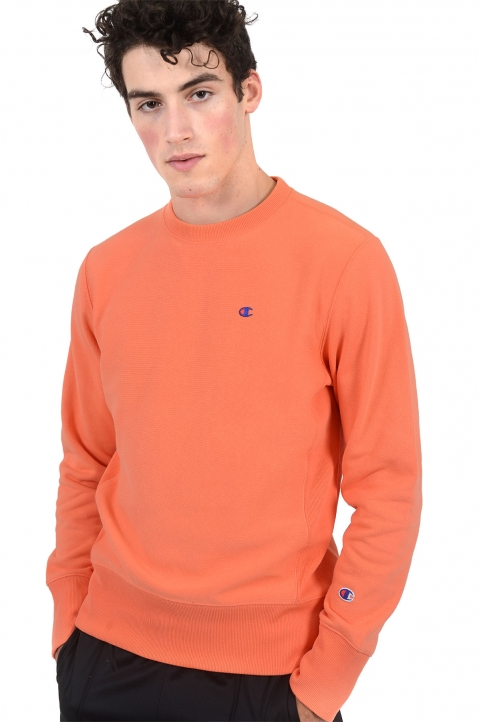CHAMPION Small Logo Salmon Sweatshirt 0