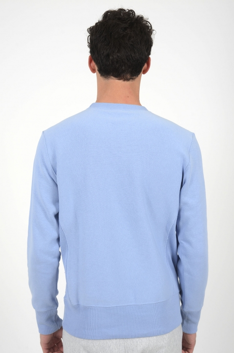 CHAMPION Small Logo Light Blue Sweatshirt 2