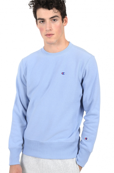 CHAMPION Small Logo Light Blue Sweatshirt 0