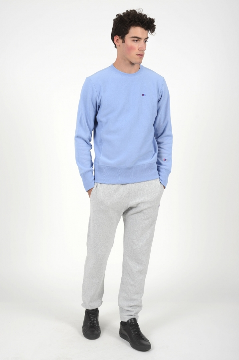 CHAMPION Small Logo Light Blue Sweatshirt 3