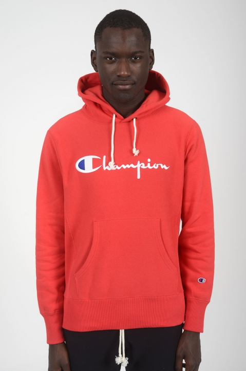 CHAMPION Red Logo Hoodie 1