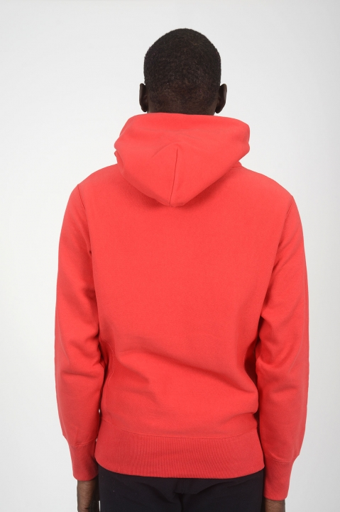 CHAMPION Red Logo Hoodie 2