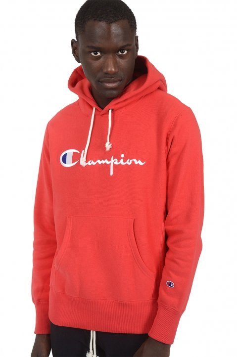 CHAMPION Red Logo Hoodie 0