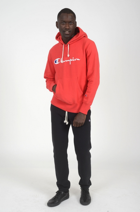 CHAMPION Red Logo Hoodie 3