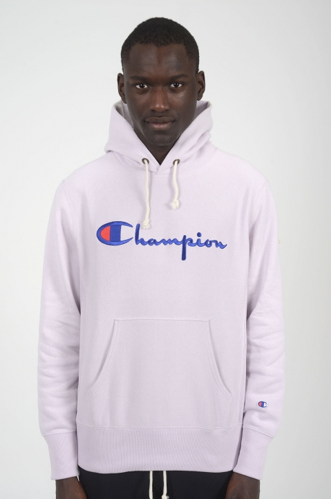 CHAMPION Light Purple Logo Hoodie 1