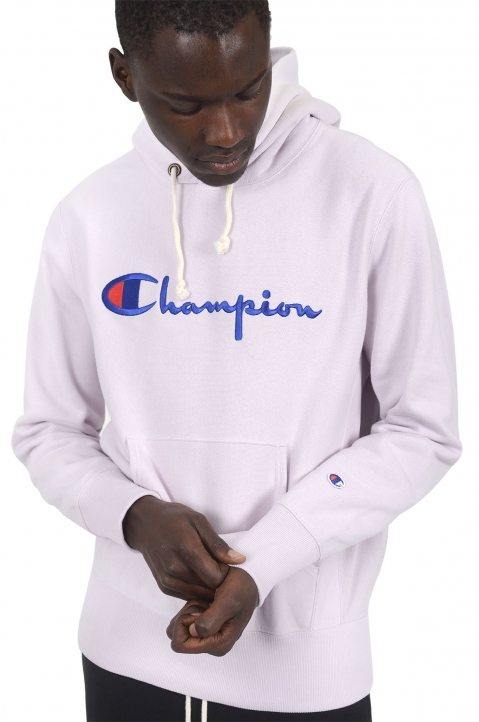 CHAMPION Light Purple Logo Hoodie 0