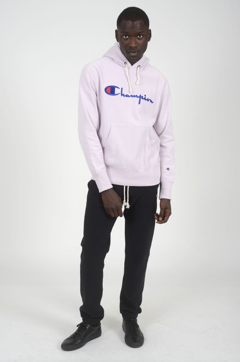 CHAMPION Light Purple Logo Hoodie 3