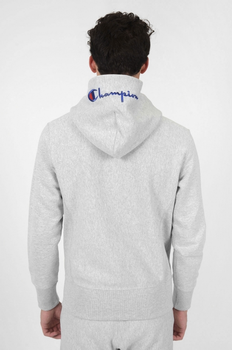 CHAMPION Logo Hood Grey Jacket 2