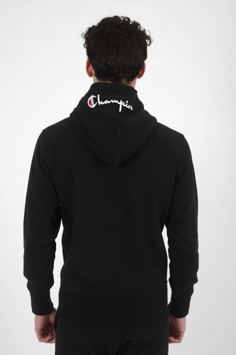 CHAMPION Logo Hood Black Jacket 2