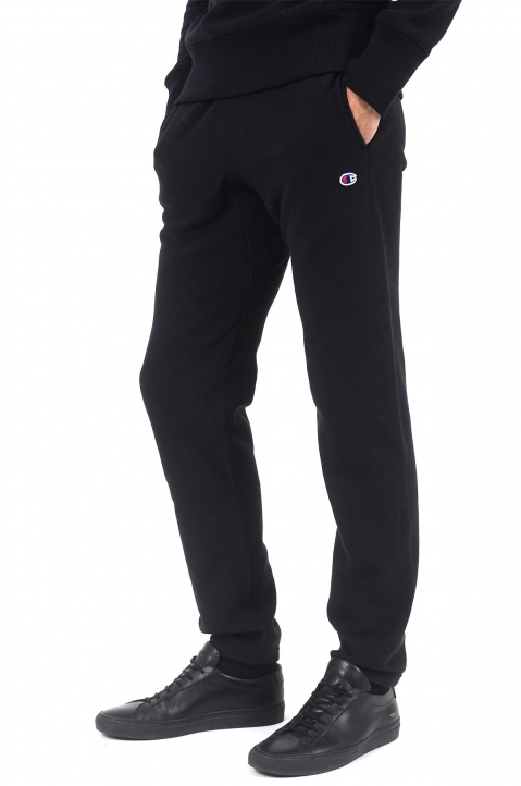 CHAMPION Logo Black Joggers 0
